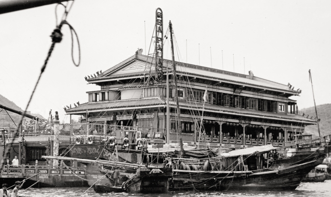 """Jumbo Kingdom"" floating restaurant in Aberdeen Harbor, Hong Kong"
