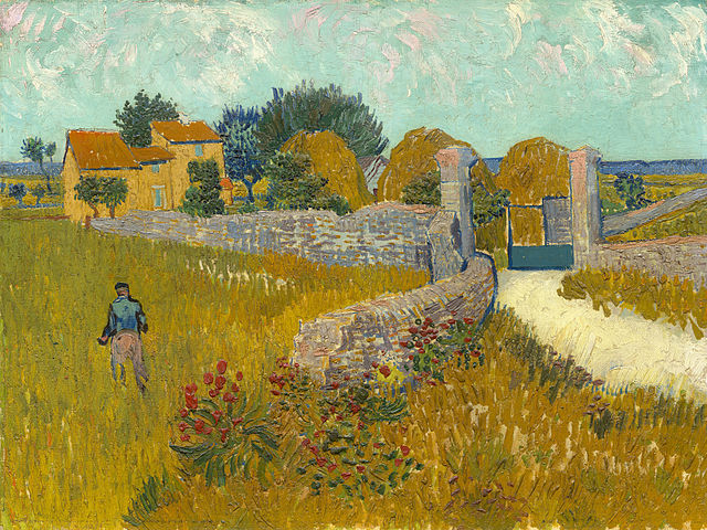 A Farmhouse in Provence, 1888, Vincent Van Gogh